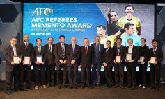 Eight recipients honoured with AFC Referees Memento Award